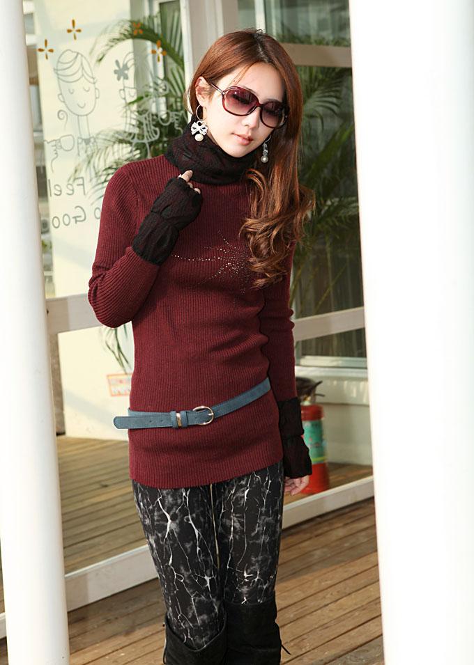 【图】今年如何用酒红色毛衣搭配出时尚感?