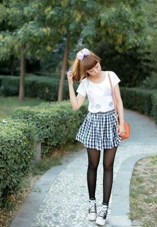 女生在穿帆布鞋穿什么袜子?