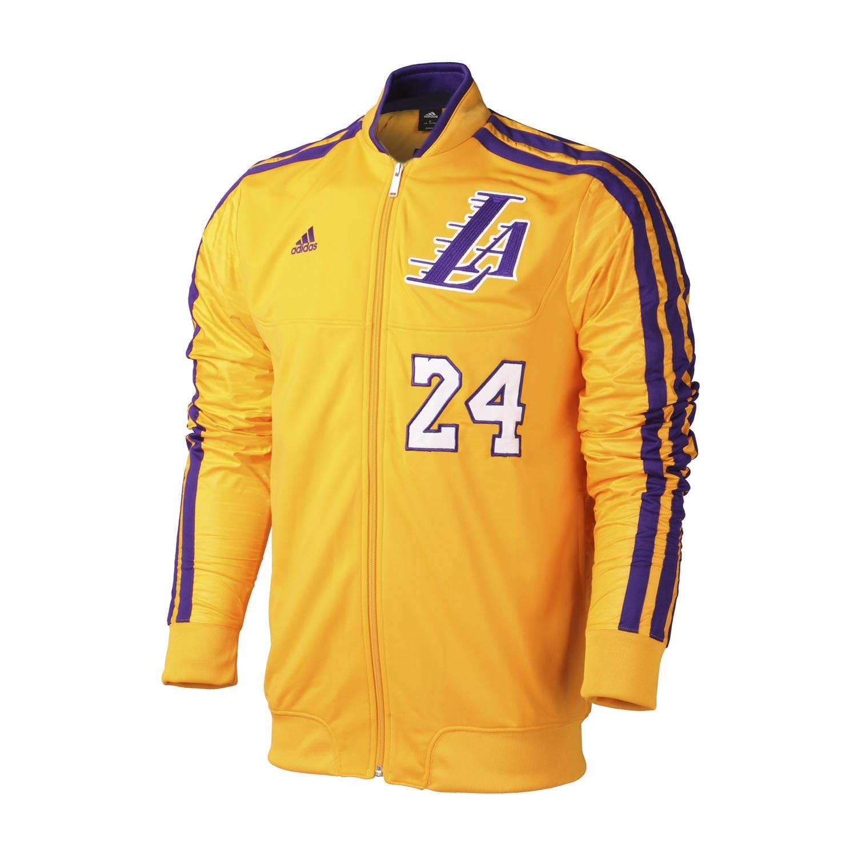 阿迪达斯adidas运动服男装篮球球迷装备系列洛杉矶湖人队外套w66564
