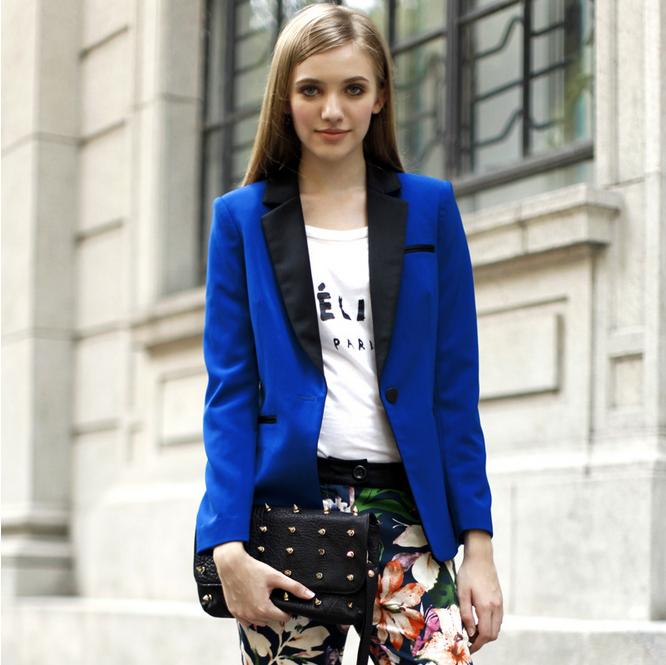 蓝色小西装怎么搭配_【图】蓝色西装外套怎么搭配?蓝色小西装外套搭配技巧