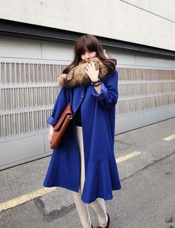 【图】湖蓝色外套怎么搭配?蓝色外套搭配什么围巾?