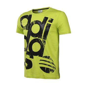 夏 adidas阿迪达斯neo2014新款生活男装纯棉logo款短袖t恤f