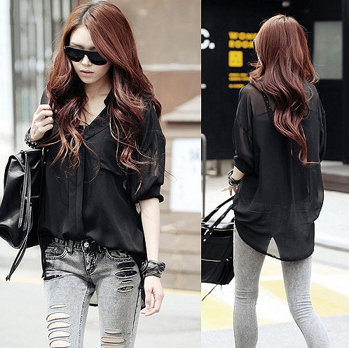 【图】黑色外套搭配什么颜色的裤子?