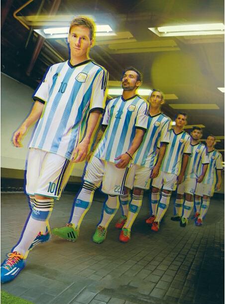 2014世界杯阿根廷球衣图片