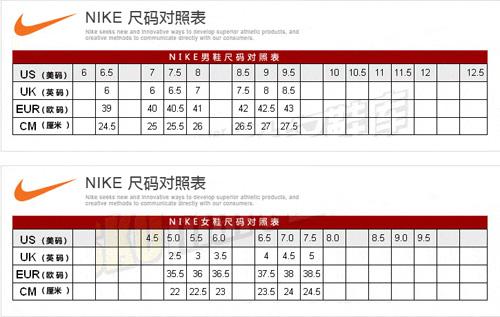 nb中美鞋码对照表_【图】阿迪耐克尺码介绍 nb nike尺码对照表