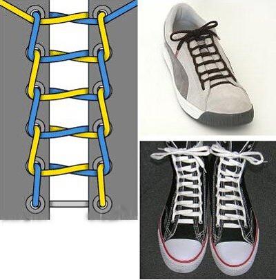 【图】帆布鞋花式系鞋带 帆布鞋花样系鞋带图解图片