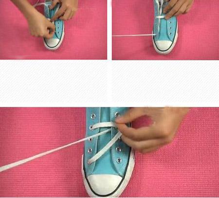 鞋带五角星系法图解-鞋带怎么系成五角星 鞋带的24种系法五角星图片