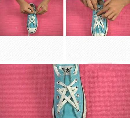 鞋带的24种系法五角星图片