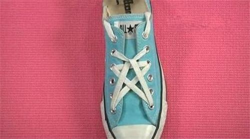 鞋带花式系法 花式鞋带系法图解图片