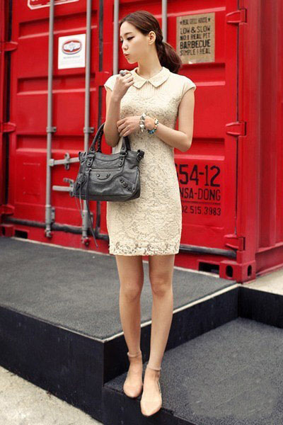 韩国夏装街拍 不同款式的夏装带来不一样的风采图片