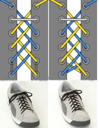 【图】系鞋带的方法图解 鞋带系法大全
