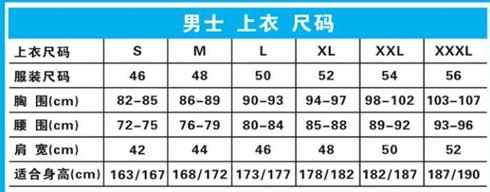 【图】165适合什么码的棉服?棉服尺码对照表
