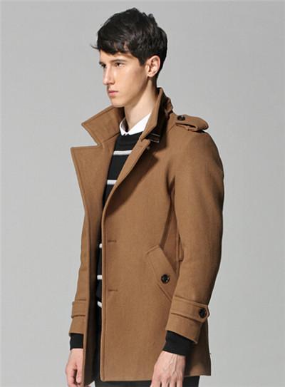 男士棕色风衣的搭配