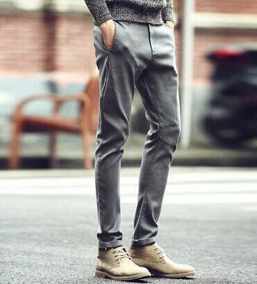 男士休闲裤子_【图】男休闲裤搭配什么鞋子?休闲裤搭配男示范