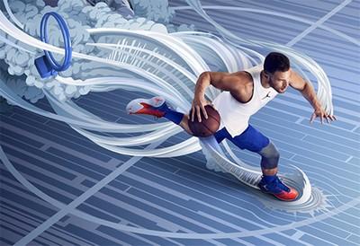 Nike air jordan super fly 5实现非凡的抓地力