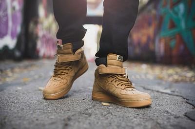 Nike air空军一号高帮小麦色男鞋的介绍及配色赏析