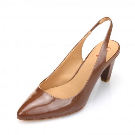 EQ:IQ 漆皮高跟松紧带尖头女单鞋 Q1A923005-A61