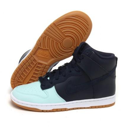 【429984-400】耐克nike女蓝黑+薄荷绿板鞋图片