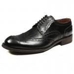 朗蒂维休闲皮鞋男鞋布洛克雕花真皮英伦夏季潮流增高商务透气皮鞋L13C054A-1