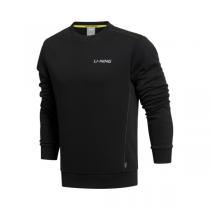 李宁LINING训练系列舒适男装罗纹收口运动卫衣套头衫AWDK397  QIU
