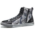 朗蒂维迷彩高帮鞋男休闲鞋时尚板鞋个性擦脏潮鞋流行男鞋L15G013A-1