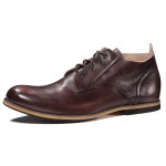 朗蒂维男靴子马丁靴潮流英伦布洛克雕花真皮短靴秋季复古低帮男靴L15S009A-1