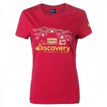 非凡探索Discovery Expedition户外服新款女装休闲创意图案短袖T恤DAJD82121-A05A
