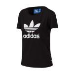adidas阿迪达斯三叶草女服装蔡依林同款短袖T恤运动服AJ8084