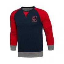 李宁新款男装运动生活系列收口修身型运动卫衣套头衫AWDL043  QIU