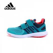阿迪达斯adidas童鞋男小大童4-13岁儿童魔术贴网面透气跑步鞋运动鞋