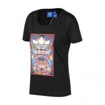 夏 adidas阿迪达斯三叶草女装短袖T恤新款运动服AJ8946