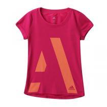 阿迪达斯adidas女大童10-13岁童装短袖T恤运动服