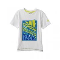 adidas阿迪达斯童运动休闲服装男小童4-10岁针织短袖T恤892042