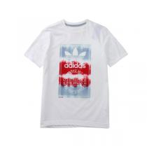 adidas阿迪达斯三叶草童运动休闲服装男大童4-13岁短袖T恤S14463