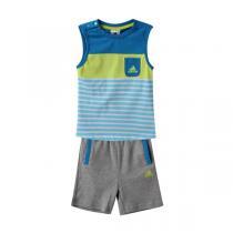 adidas阿迪达斯童运动休闲服装男婴童0-4岁针织套装892011