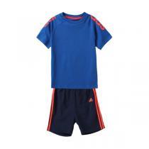 adidas阿迪达斯童运动休闲服装男婴童0-4岁纯棉套装S21456
