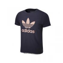 adidas阿迪达斯童服装女大童4-13岁短袖T恤AJ0046