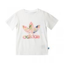 adidas阿迪达斯童服装新款女婴童0-4岁短袖T恤AJ0022