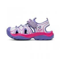 斯凯奇童鞋夏款女小童运动鞋儿童凉鞋86656N-WPUR