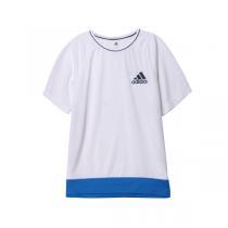 adidas阿迪达斯童服装男大童10-13岁针织短袖T恤AK2757