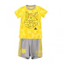 adidas阿迪达斯童服装男婴童0-4岁纯棉套装AK2499