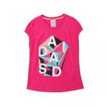 adidas阿迪达斯童服装女小童4-10岁针织短袖T恤AK1959