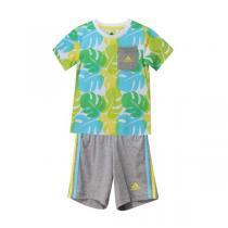 adidas阿迪达斯童服装男婴童0-4岁纯棉套装AJ7356