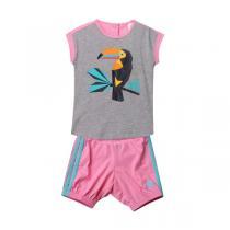 adidas阿迪达斯童服装女婴童0-4岁针织套装AK2623