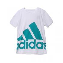 adidas阿迪达斯童服装男大童10-13岁针织短袖T恤AK2008