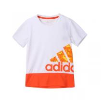 adidas阿迪达斯童服装男小童4-10岁针织短袖T恤AP6422