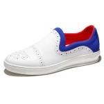 朗蒂维流行男鞋透气拼接撞色休闲鞋男韩版套脚运动板鞋男新款L16F013A-1【夏季特惠】【小白鞋】