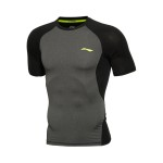 LINING李寧健身衣男士訓練系列短袖涼爽緊身訓練服短裝夏季運動服AUDL045