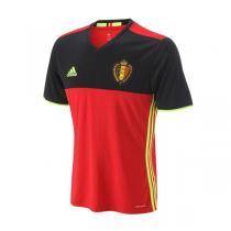 adidas阿迪达斯男装短袖T恤2016新款比利时主场比赛运动服AA8744