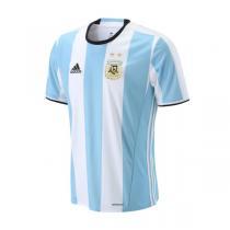 adidas阿迪达斯男装短袖T恤2016新款阿根廷主场比赛运动服AH5144